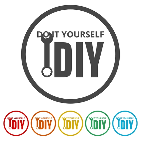 Do it yourself icon, DIY icon, 6 Colors Included