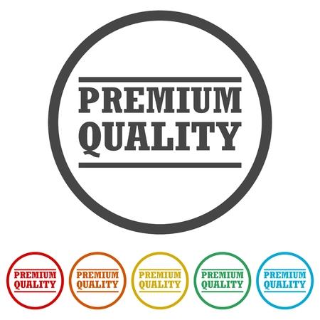 Premium quality, Premium quality label, 6 Colors Included Ilustrace
