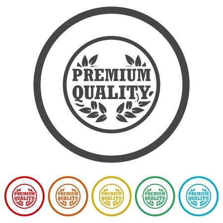 Premium quality, Premium quality label, 6 Colors Included Ilustrace