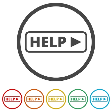 Help sing, Help icon, 6 Colors Included