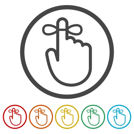Reminder icon - Vector Illustration, 6 Colors Included