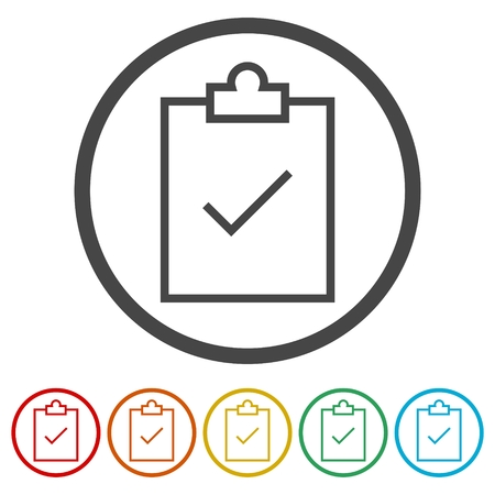 Checklist icon, checklist icon form approved, 6 Colors Included 일러스트