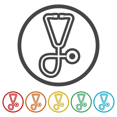 Stethoscope icon, 6 Colors Included