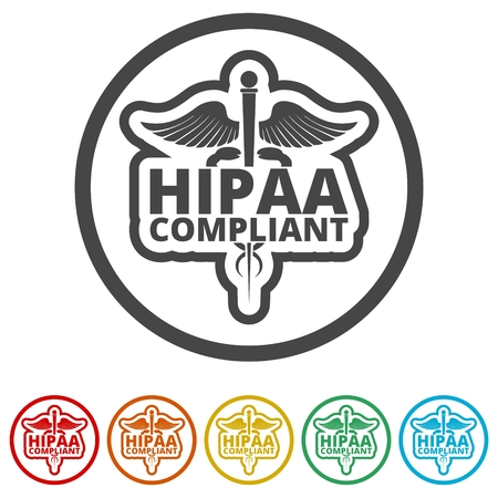 HIPAA - Health Insurance Portability and Accountability Act icon, 6 Colors Included