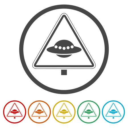 Ufo danger sign, 6 Colors Included