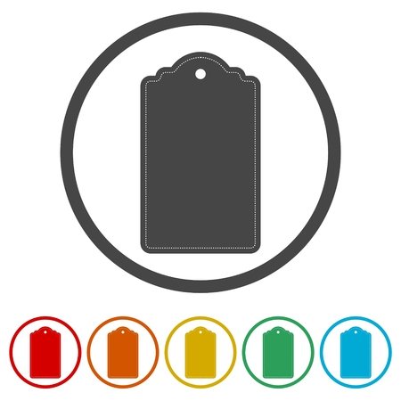 Blank price tag, 6 Colors Included Illustration