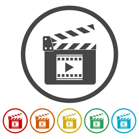 Movie Clapper, Film Flap, 6 Colors Included