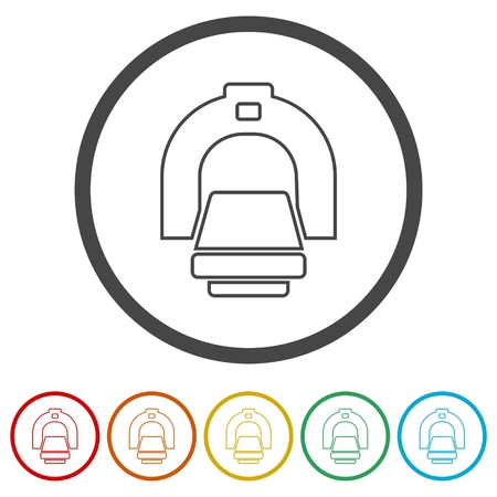 CT scan icon, CT scanner, 6 Colors Included