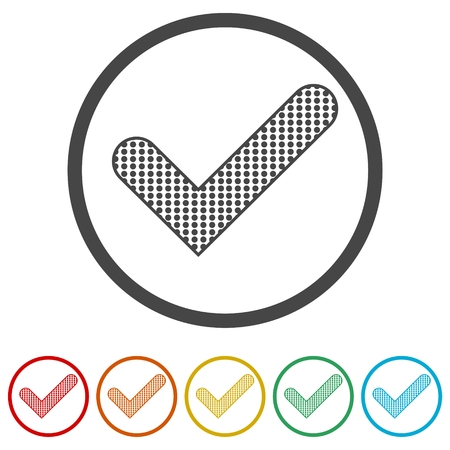 Checkmark Icon, Check mark icon - vector, 6 Colors Included
