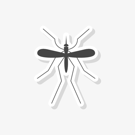 Mosquito sticker, simple vector icon