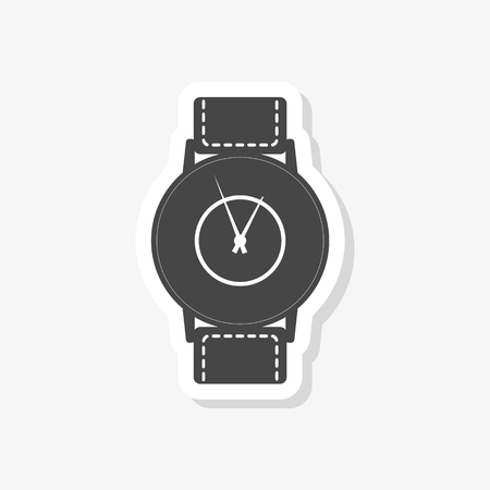 Watch sticker, simple vector icon
