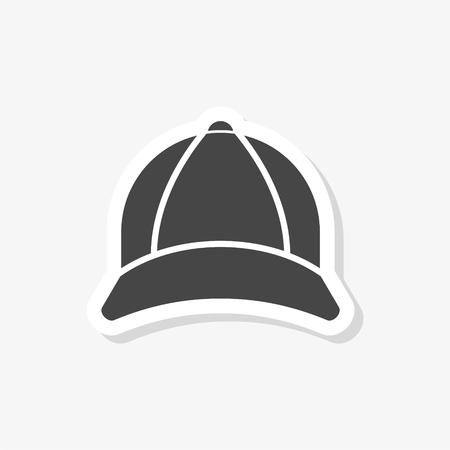 Naklejka na czapkę, prosta ikona wektor