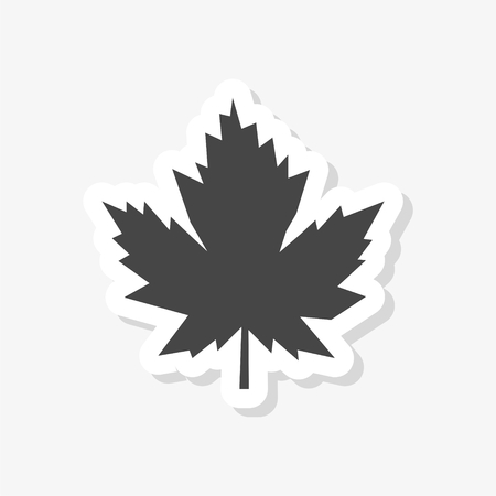 Maple Leaf sticker, simple vector icon
