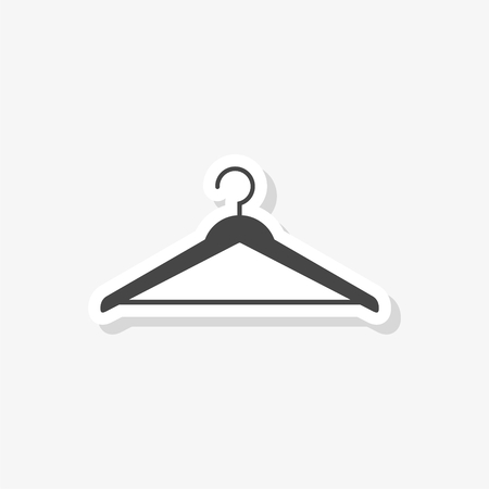 Hanger sign sticker, Cloakroom symbol, simple vector icon