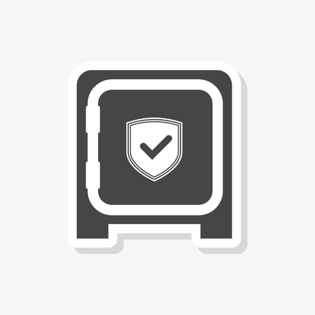 Safe sticker, Vector shield icon, simple vector icon