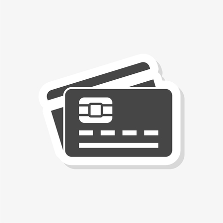 Credit Card sticker, Credit card business icon, simple vector icon