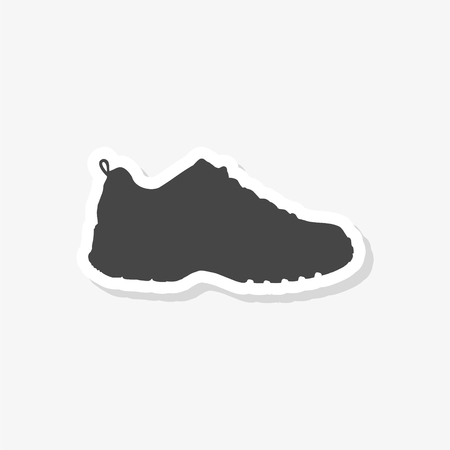 Sport shoe sticker, simple vector icon  イラスト・ベクター素材