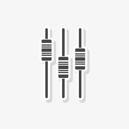 Sliders or faders control board, Fader sticker, simple vector icon
