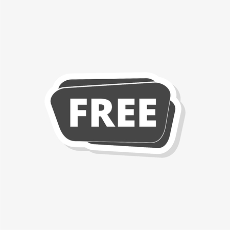 Free sign, Free vector sticker, simple vector icon