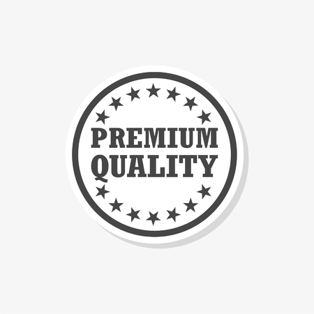 Premium quality sticker, Premium quality label, simple vector icon