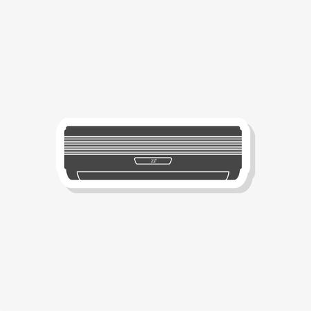 Air conditioner sticker, simple vector icon