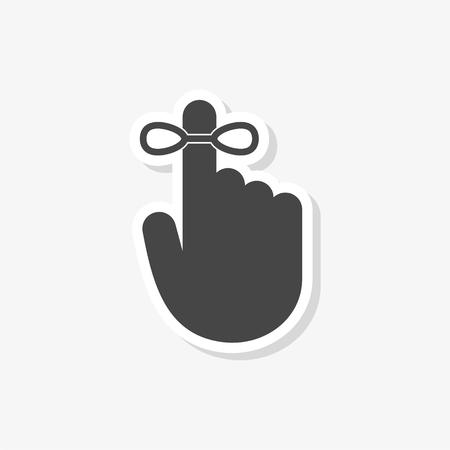 Reminder sticker, simple vector icon