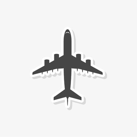 Autocollant d'avion, symbole d'avion, icône de vecteur simple Vecteurs