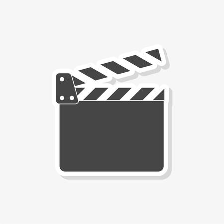Movie Clapper, Film Flap sticker, simple vector icon