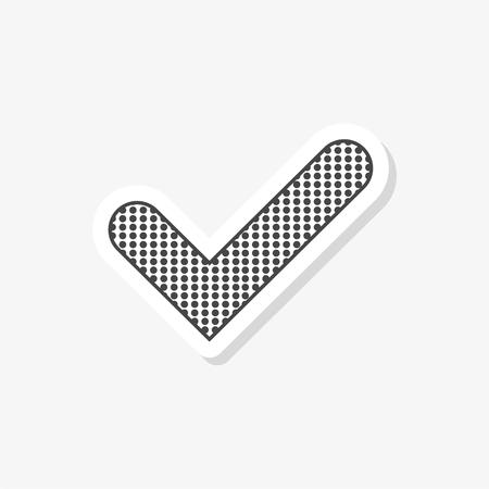 Checkmark sticker, simple vector icon Vektorové ilustrace