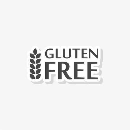 Gluten Free Sign sticker, simple vector icon