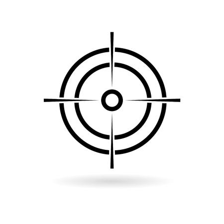 Hunting sight icon Çizim