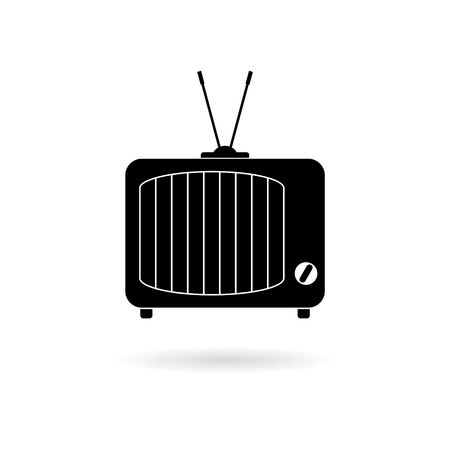 Black Retro TV icon