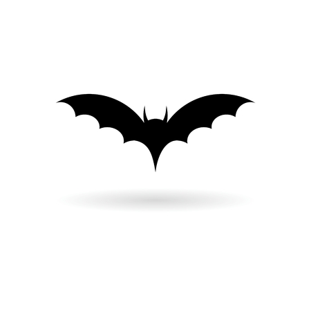Bat Silhouette icon Иллюстрация