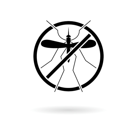 No Mosquito sign icon