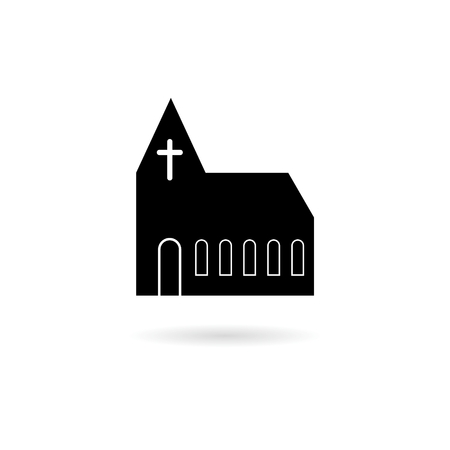 Symbol Church Building, Church icon Illustration