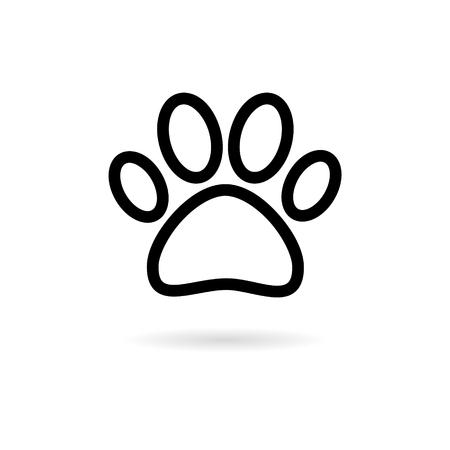Paw Print Symbol icon Reklamní fotografie - 124730621