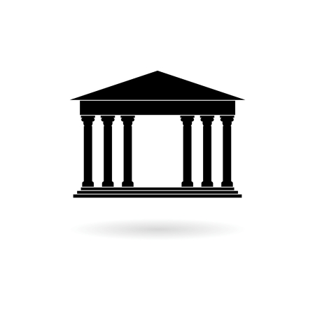 Bank building icon Ilustrace