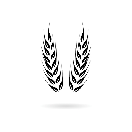 Wheat icon, Wheat ears Ilustrace