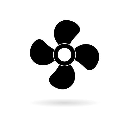 Wektor ikona wentylatora, przycisk klimatyzacji