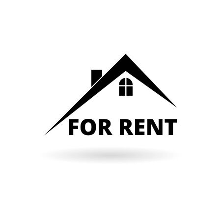 Home roof sticker, simple vector icon