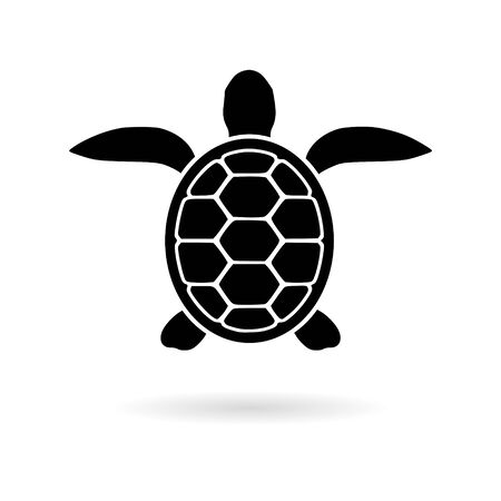 Turtle sticker Flat Graphic Design, simple vector icon