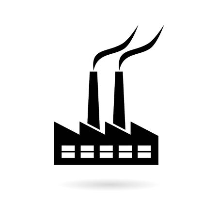 Factory sticker, simple vector icon