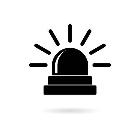 Siren sticker for web and mobile, Alarm siren vector icon, simple vector icon