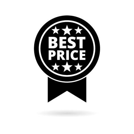 Bester Preis-Verkaufsaufkleber, einfaches Vektorsymbol Vektorgrafik