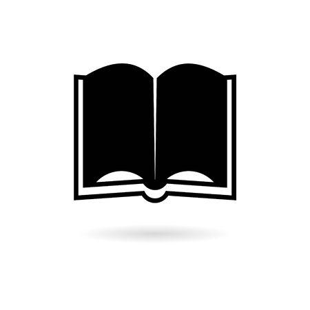 Black Open book icon Illustration