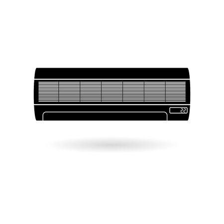 Black Air conditioner icon Çizim