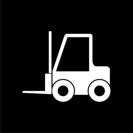 Forklift icon, Forklift truck on dark background Illustration