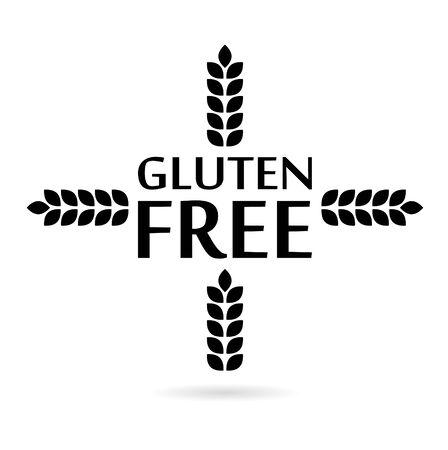 Gluten Free Sign icon, wheat icon