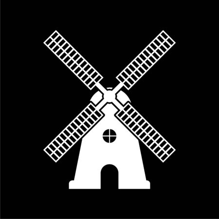 Windmill icon, Windmill farm on dark background