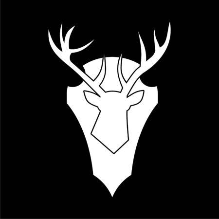 Deer head icon on dark background